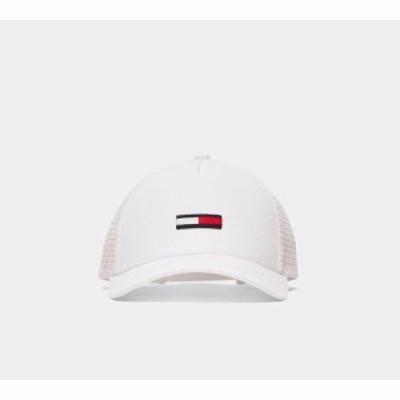 トミー ジーンズ Tommy Jeans メンズ キャップ 帽子 flag trucker cap White