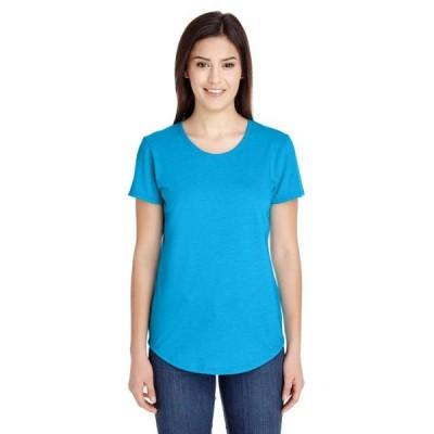 レディース 衣類 トップス Womens Triblend Scoop Neck T-Shirt Tシャツ