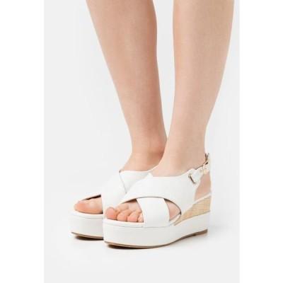 ディヴァインファクトリー レディース 靴 シューズ Platform sandals - blanc