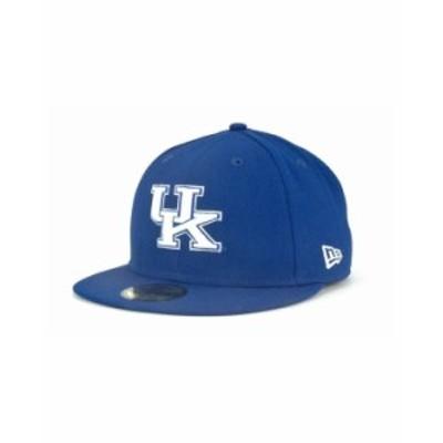 ニューエラ メンズ 帽子 アクセサリー Kentucky Wildcats 59FIFTY Cap RoyalBlue