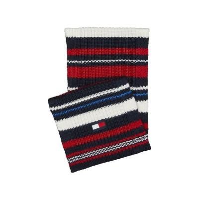 トミー ヒルフィガー マフラー・ストール・スカーフ アクセサリー メンズ Men's Chunky Variegated Striped Scarf Multi