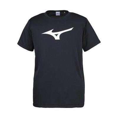 ミズノ(MIZUNO) スポーツウェア メンズ レディース BS Tシャツ ビッグロゴ ブラック×ホワイト 32JA815509 半袖 トップス