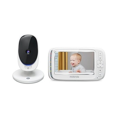"新品Motorola Comfort 50 Video Baby Monitor with 5"" Color Display, Digital Zoom, Two-Way Audio, Infrared Night Vision and 5 Soothing Lullab"