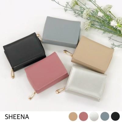 SHEENA 裏配色シンプルミニウォレット ウォレット 財布 ミニ コンパクト シンプル ベーシック   ブルー フリー レディース