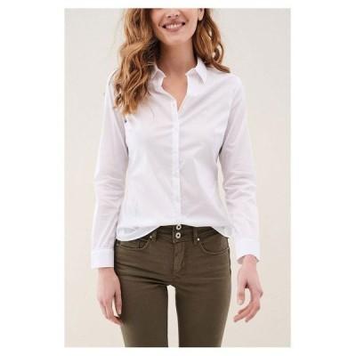 サルサジーンズ シャツ レディース トップス Salsa jeans Poplin Regular Fit White