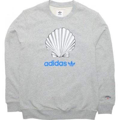 アディダス Adidas メンズ スウェット・トレーナー トップス x Noah Crew Neck gray/medium grey heather