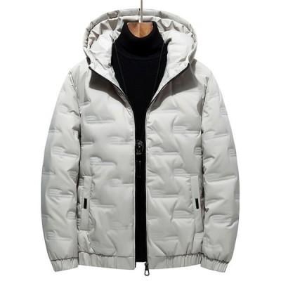 中綿ジャケット メンズ ジャケット 厚手 中綿 暖かい ブルゾン アウトドア 秋冬 大きいサイズ 防寒 アウター コート フード付き 無地 秋冬 送料無料