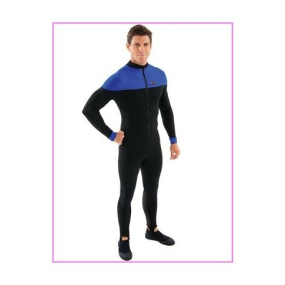 【送料無料】Henderson Polyolefin Scuba Diving Unisex Hot Skin-Black / Blue-Large【並行輸入品】