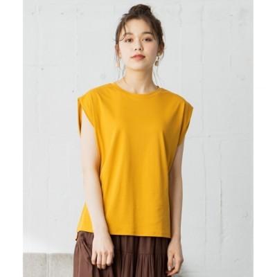 【エニィスィス/any SiS】 【Ray6月号掲載】Rich cottonスムース フレンチスリーブ Tシャツ