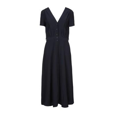 セッスン SESSUN 7分丈ワンピース・ドレス ダークブルー XS レーヨン 100% 7分丈ワンピース・ドレス