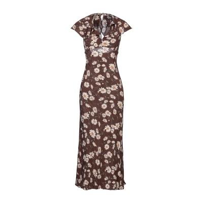 マイケル・コースコレクション MICHAEL KORS COLLECTION ロングワンピース&ドレス ブラウン 2 シルク 100% ロングワンピ