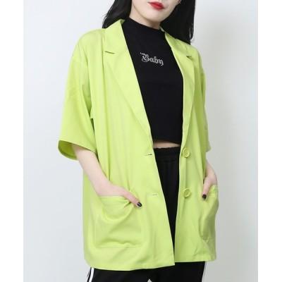 WEGO / WC/【セットアップ対応商品】半袖カラージャケット WOMEN ジャケット/アウター > テーラードジャケット