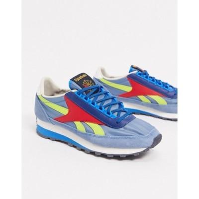 リーボック レディース スニーカー シューズ Reebok Geo-Tribal 79 OG sneakers in blue and yellow