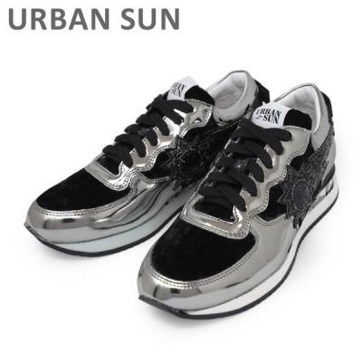 アーバンサン スニーカー LAURE 135 シルバー/ブラック URBAN SUN レディース シューズ 靴