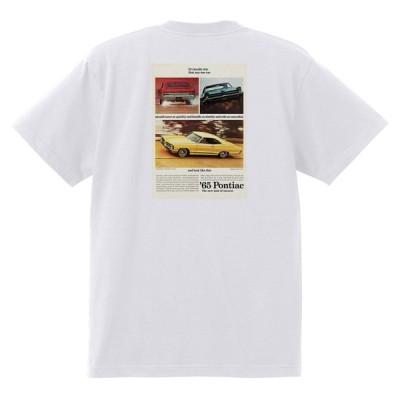 アドバタイジング ポンティアック 394 白 Tシャツ 黒地へ変更可能 1965 テンペスト ボンネビル カタリナ パリジェンヌ アメ車