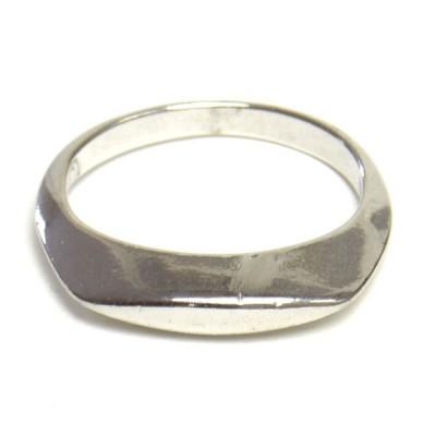 キヤスト シンプル プレート デザイン かっこいい シルバーカラーリング 合金 かわいい レディス 指輪 h-re2095  yy