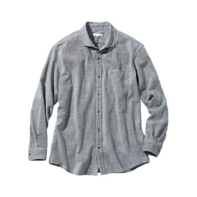 お腹ゆったりシャンブレー長袖シャツ カジュアルシャツ, Shirts,