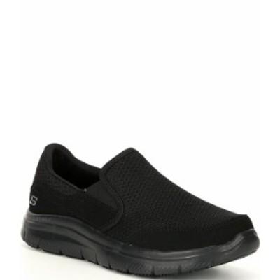 スケッチャーズ メンズ スリッポン・ローファー シューズ Men's Work Relaxed Fit Flex Advantage-McAllen Slip Resistant Sneakers Blac
