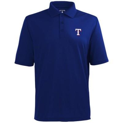 """メンズ ポロシャツ """"Texas Rangers"""" Antigua Desert Dry Xtra-Lite Team Polo - Royal Blue"""