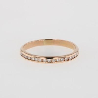 メレダイヤ デザインリング K18 ピンクゴールド 指輪 リング 16.5号 PG ダイヤモンド レディース 中古