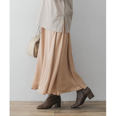 URBAN RESEARCH ROSSO/アーバンリサーチ ロッソ F by ROSSO サテンフレアスカート BEIGE 36
