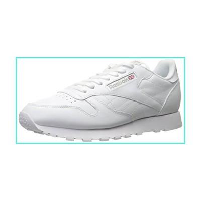 【新品】Reebok Men's Classic Leather Walking and Running Shoes Casual Sneakers, White/White/Light Grey, 10.5 M US(並行輸入品)