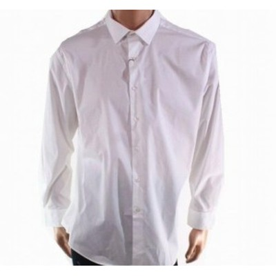 Alfani  ファッション ドレス Alfani NEW White Mens Size 16 1/2 Long-Sleeve Slim Fit Dress Shirt