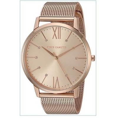 Vince Camuto Women's VC/5332RGRG Swarovski Crystal Accented Rose Gold-Tone Mesh Bracelet Watch並行輸入品