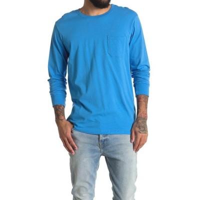 リッチャープアー メンズ Tシャツ トップス Long Sleeve Pocket Lounge T-Shirt COBALT