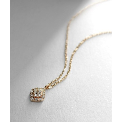 COCOSHNIK(ココシュニック) ダイヤモンド クラスター取巻き ロータスネックレス