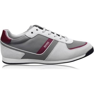 ヒューゴ ボス BOSS メンズ スニーカー シューズ・靴 Glaze Nylon Suede Trainers Open Biege