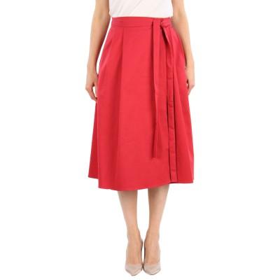 JIL SANDER NAVY 7分丈スカート レッド 38 コットン 98% / ポリウレタン 2% 7分丈スカート