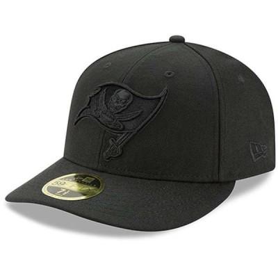 ニューエラ メンズ 帽子 アクセサリー Tampa Bay Buccaneers New Era Black On Black Low Profile 59FIFTY Fitted Hat