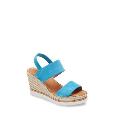 ケネスコール サンダル シューズ レディース Elyssa Platform Wedge Sandal Bright Blue Suede