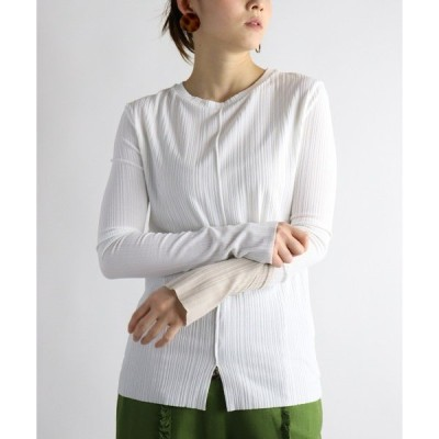 tシャツ Tシャツ ランダムリブバイカラーT