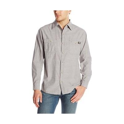 ディッキーズ メンズ長袖プリント シャンブレー織シャツ US サイズ: X-Large カラー: グレイ