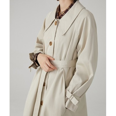 chuclla / 【Fano Studios】【2021SS】Drop neck Bal collar coat cb-3 FC19WN061 WOMEN ジャケット/アウター > ステンカラーコート