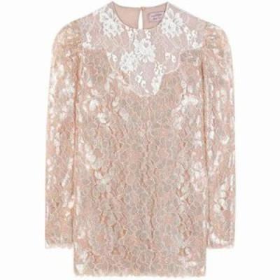 ランバン ブラウス・シャツ Metallic lace blouse Powder