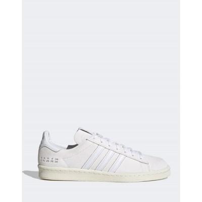 アディダスオリジナルス メンズ スニーカー シューズ adidas Originals Campus 80s sneakers in white White