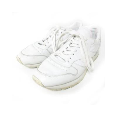 【中古】リーボック Reebok CL LEATHER OMN クラシックレザー スニーカー シューズ ホワイト 白 10 28cm BD1905 1227  【ベクトル 古着】