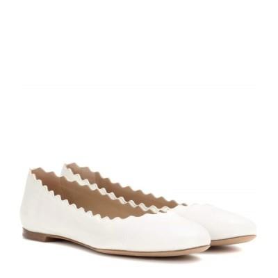 クロエ Chloe レディース スリッポン・フラット シューズ・靴 Lauren leather ballet flats Cloudy White