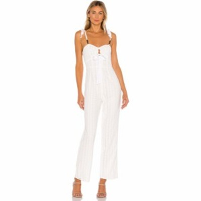 トゥラロサ Tularosa レディース オールインワン ジャンプスーツ ワンピース・ドレス Billie Jumpsuit White