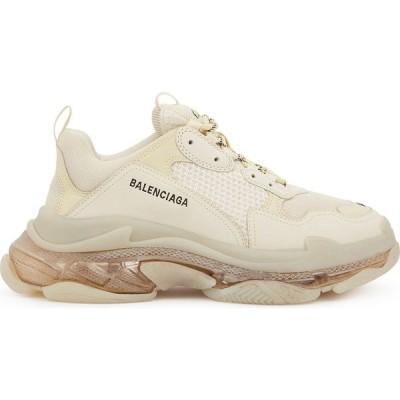 バレンシアガ Balenciaga メンズ スニーカー シューズ・靴 Triple S Ecru Mesh And Nubuck Sneakers White