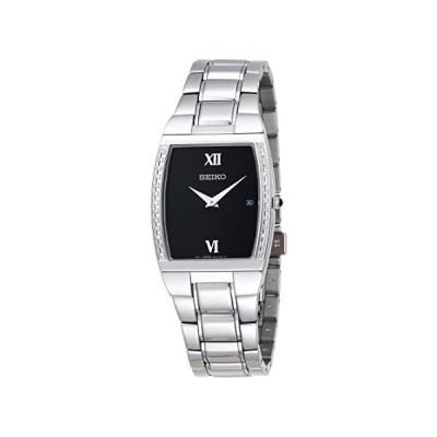 Seiko Men's SKP319 Diamond Dress Silver-Tone Watch
