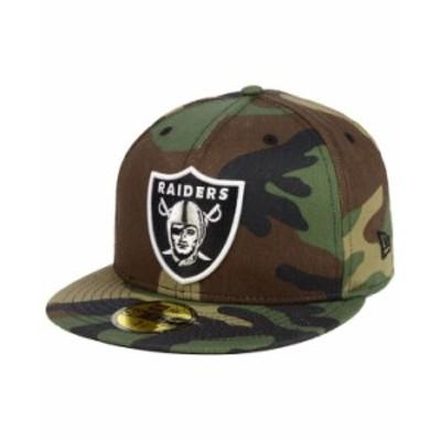 ニューエラ メンズ 帽子 アクセサリー Las Vegas Raiders Basic Fashion 59FIFTY FITTED Cap Camo