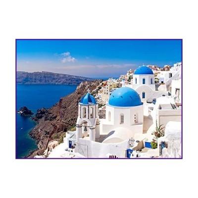 1000ピースパズル 大人用 サントリーニギリシャ 風景アート ホームデコレーション 絵画 ジグソーパズル