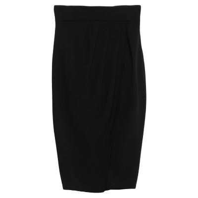 ELISABETTA FRANCHI ひざ丈スカート ブラック 40 ポリエステル 100% ひざ丈スカート