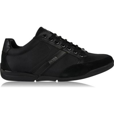 ヒューゴ ボス BOSS メンズ スニーカー ローカット シューズ・靴 Saturn Low Top Trainers Black