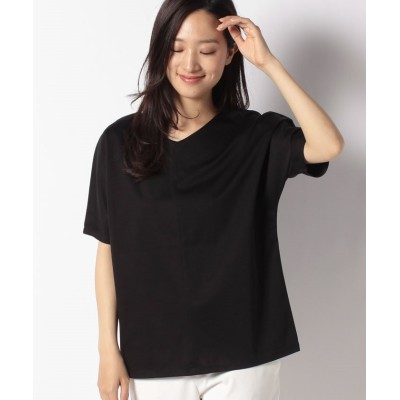 (MICA&DEAL/マイカアンドディール)silhouette t-shirt/レディース BLACK