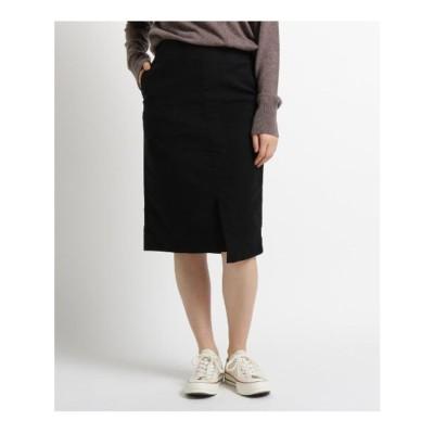 ジェット JET 【洗える】モールスキンストレッチタイトスカート (ブラック)
